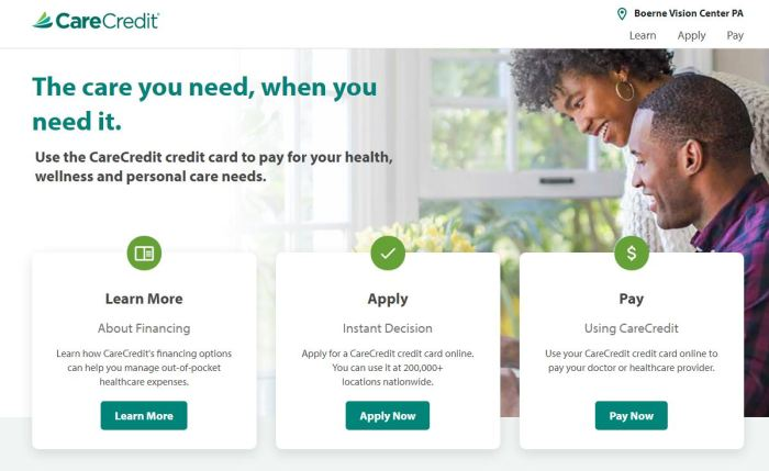 care credit boerne vision center